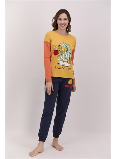 Garfield Pijama Takım Hardal
